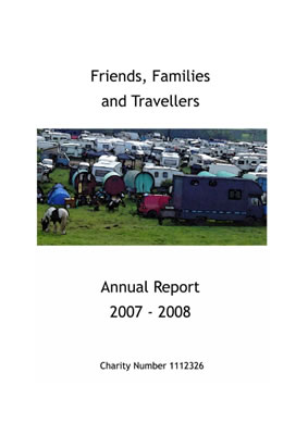 thumbnail of cover for 'Friends, Families and Travellers Annual Report 2007-2008'