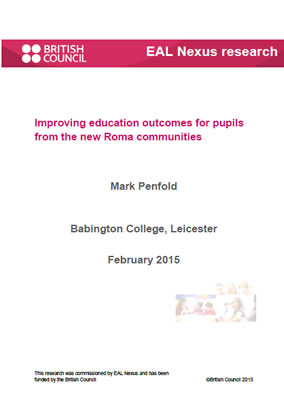 Thumbnail of report cover for 'Improving education outcomes for pupils from the new Roma communities'