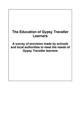 thumbnail of survey cover for 'The Education of Gypsy Traveller Learners'