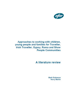 thumbnail of literature review cover for 'Approaches to working with children, young people and families for Traveller, Irish Traveller, Gypsy, Roma and Show People Communities'