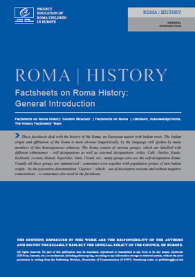thumbnail of report cover for 'Roma History, Factsheets on Roma History: General Introduction'
