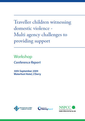 thumbnail of report cover for 'Traveller children witnessing domestic violence - Multi agency challenges to providing support'