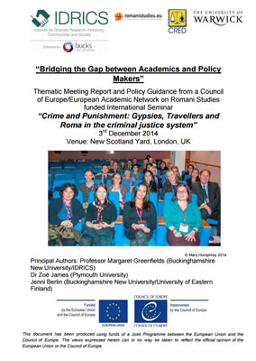 thumbnail of report cover for 'bridging the gap between academics and policy makers'
