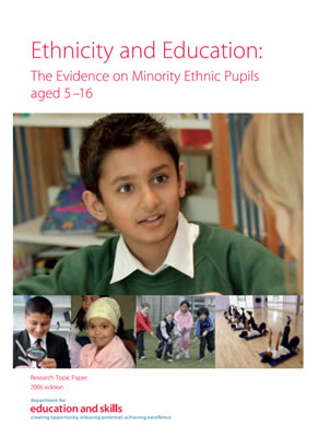 thumbnail of report cover for 'Ethnicity and Education: The Evidence on Minority Ethnic Pupils aged 5-16'