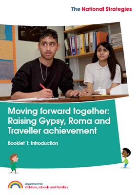 thumbnail of booklet cover for 'Moving forward together: Raising Gypsy, Roma and Traveller achievement'