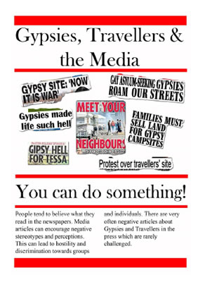 Picture of 'Gypsies, Travellers & the Media' flyer