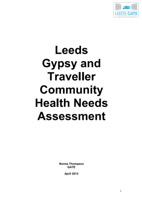 Thumbnail of front cover of 'Leeds Gypsy and Traveller Community Health Needs Assessment' 2013