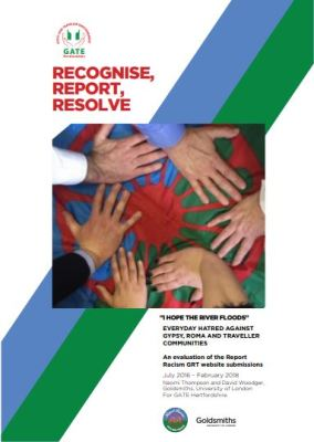 thumbnail of report cover for 'Recognise, Report, Resolve: An evaluation of the Report Racism GRT website submissions'