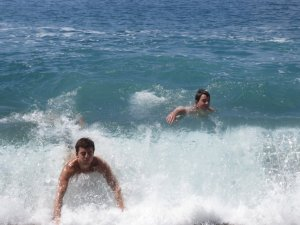 the waves in Manzanillo were HUGE