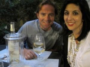 a romantic Italiano dinner in Milano.