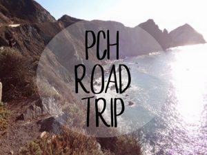 California PCH road trip cover