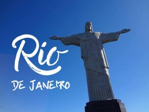 Title page for Rio De Janeiro Blog post with Christ the Redeemer