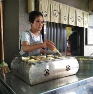 Street food near Sensō-ji Temple