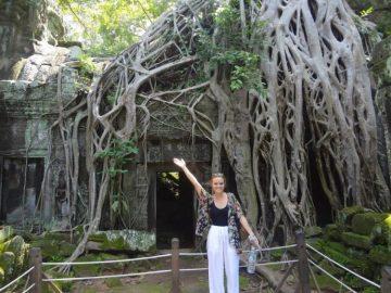 Rachel at Angkor Wat
