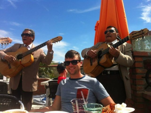 Mariachi band playing in Puerto Nuevo