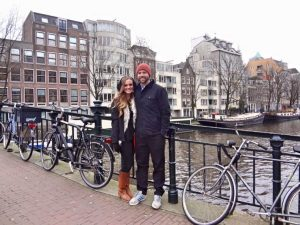 Grant and Rachel in Amsterdam
