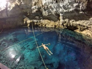 Rachel in Cenote Multun-Ha
