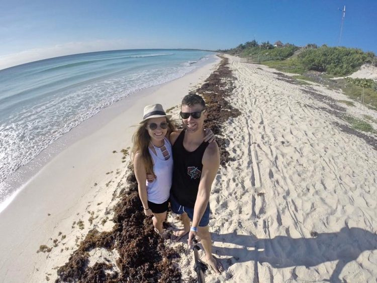 Grant and Rachel at Sian Ka'an Biosphere Reserve