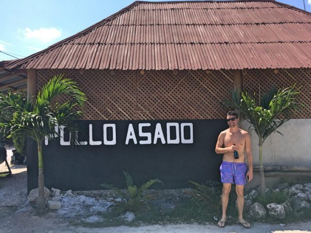 Grant at Pollo Asado in Tulum