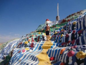 Grant on Salvation Mountain California Weekend Getaway
