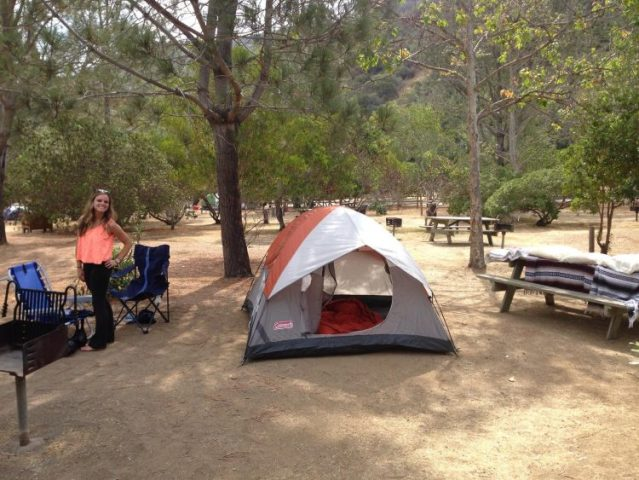 Camping on Catalina Island