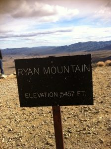 Ryan Mountain Sign