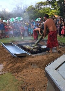 A pig roast at Smith's Family Garden Luau on Kauai