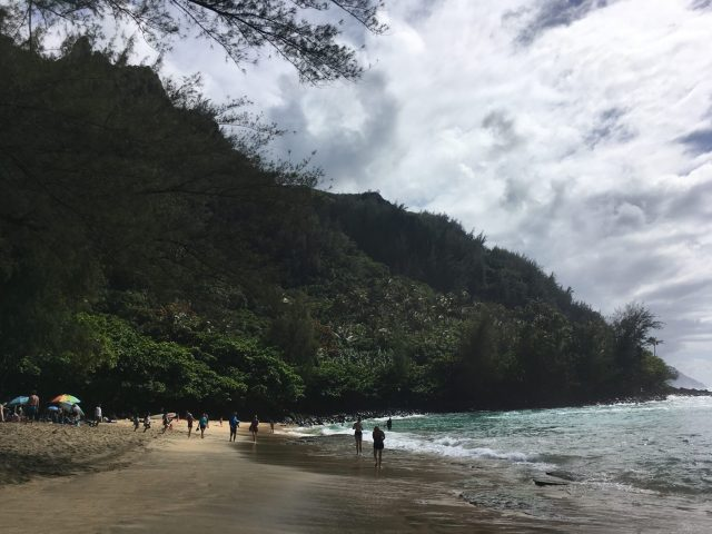 Ke'e Beach in Ha'ena State Park