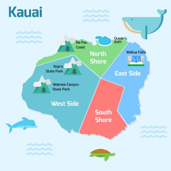 Kauai neighborhood info graphic