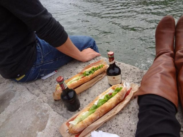 Grant and Rachels lunch on the Seine River in Paris