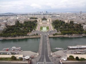 A view from the Eiffel Tower