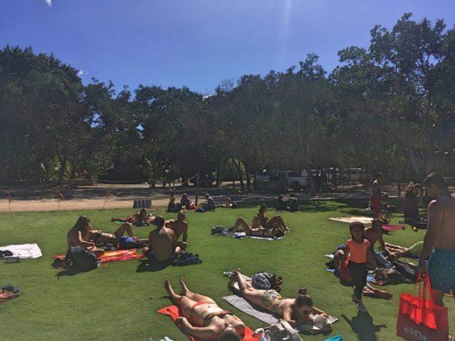 sunbathing grand cenote