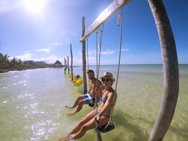 swinging in holbox