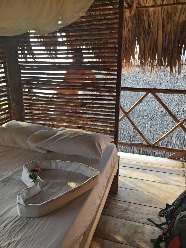 bedroom at hostel icthus isla baru