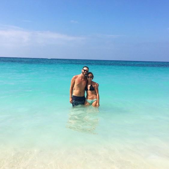 blue water at playa blanca