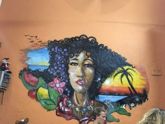 painting at mulato restaurant