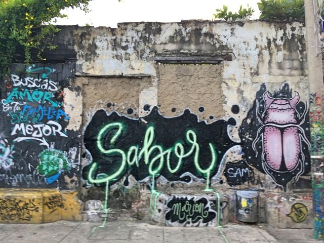 sabor street art in getsemani cartagena