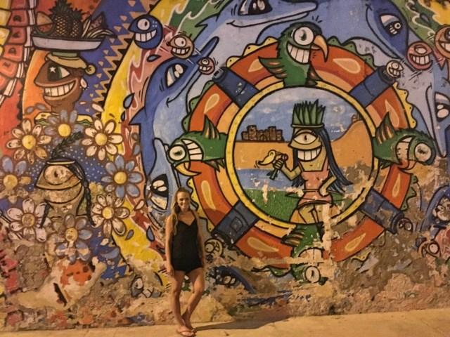 street art mural in colorful cartagena