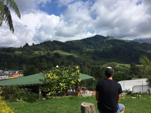 view from viajero salento