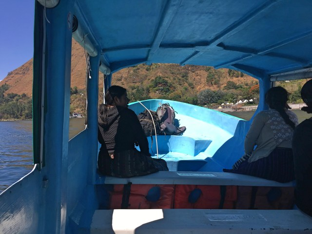 boat in lake atitlan