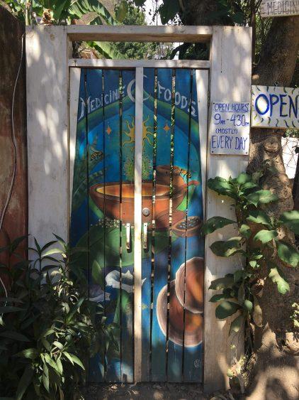 door at medicine foods cafe san marcos