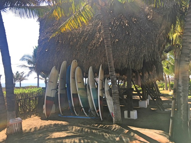 surfboards in paredon