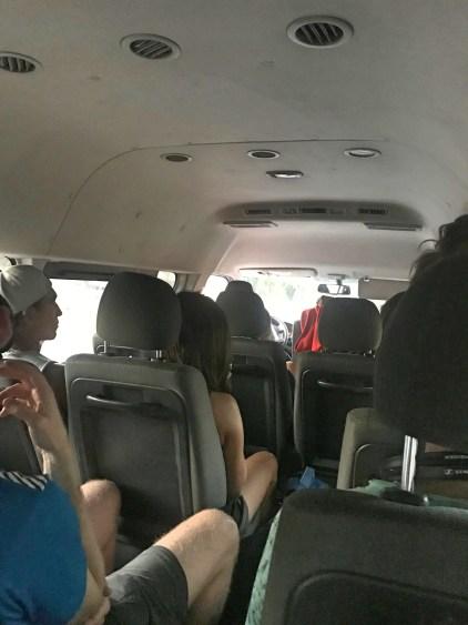bus ride to granada from el tunco