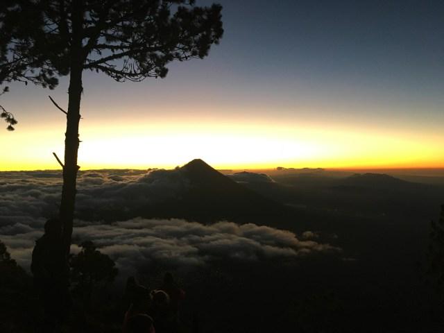 sunrise over acatenango