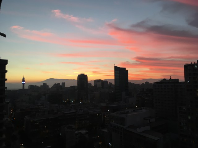 sunset santiago