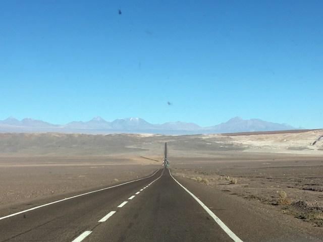 driving into atacama desert