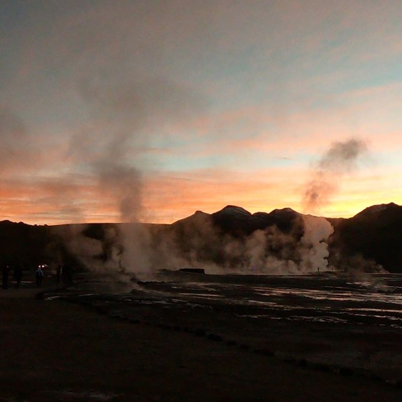 geysers and chile sunrise