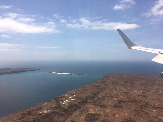 plane to galapagos
