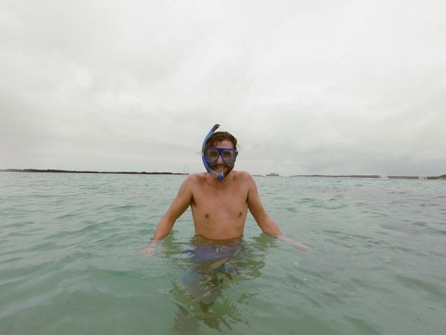 snorkeling cold galapagos