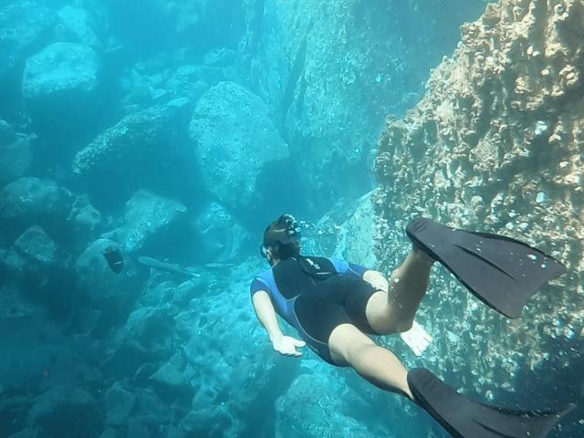 snorkeling kicker rock_
